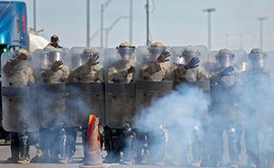 早安·世界 美防暴警察在美墨边境举行安全演习
