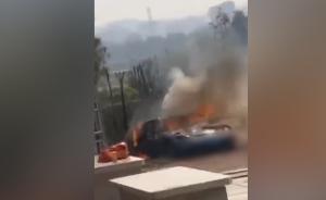 泉州保時捷停靈堂邊被燒化,疑鞭炮引燃