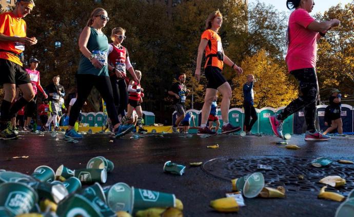 """一場馬拉松垃圾一百噸,跑賽""""污染環境""""難題如何解決"""