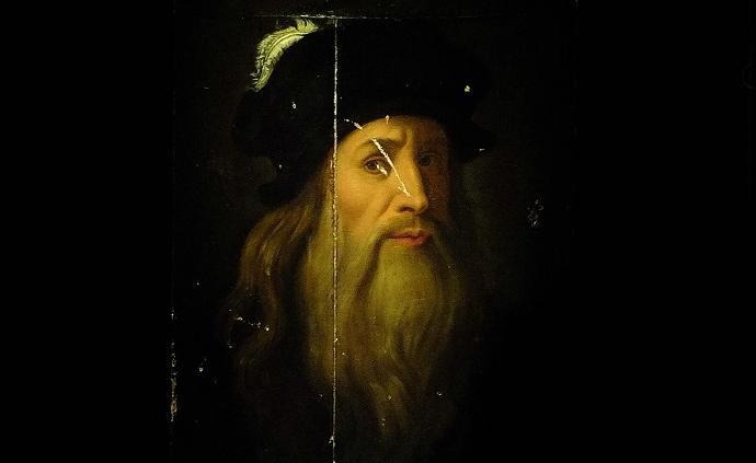央美將展木板油畫《達·芬奇自畫像》,曾在濟南臺北展出