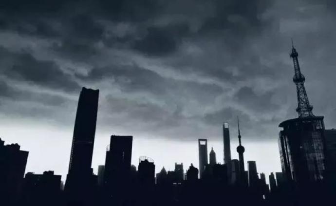 """上海气象台发布暴雨蓝色及大风蓝色""""双预警"""""""