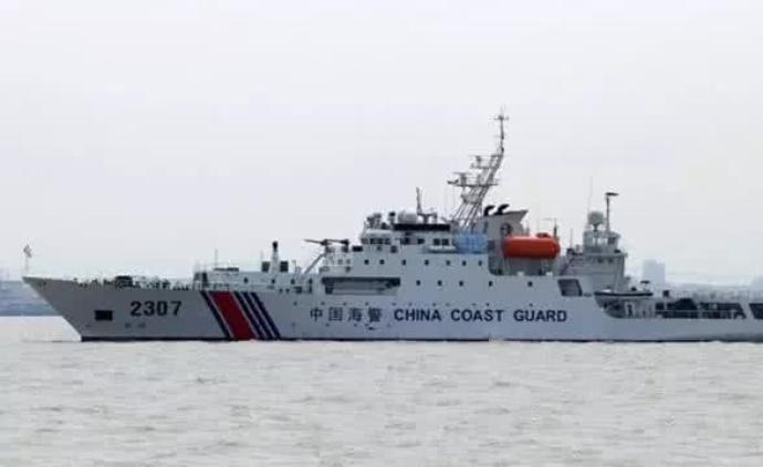 中国海警舰艇编队6月10日在我钓鱼岛领海巡航