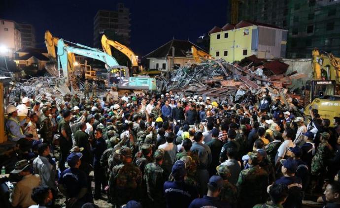 柬埔寨塌楼事故致28死,4名涉事中国公民被羁押