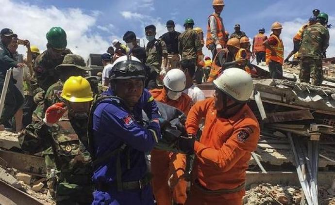 柬埔寨一在建大楼坍塌已致42人死伤,疑有中国工人被困