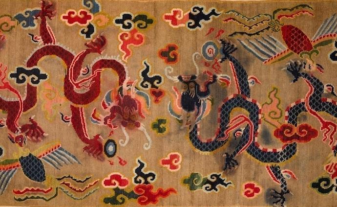 """德籍""""上海市荣誉市民""""45件中国古艺毯入藏上博"""
