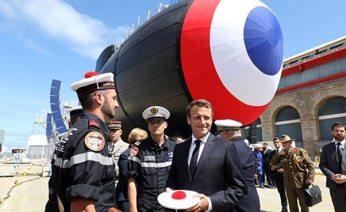 """法国新一代攻击型核潜艇下水:噪音小如""""虾?#20445;?#25112;力大幅提升"""