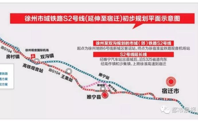 """长三角打造""""世界级机场群"""",徐州轨道交通S2号线列入规划"""