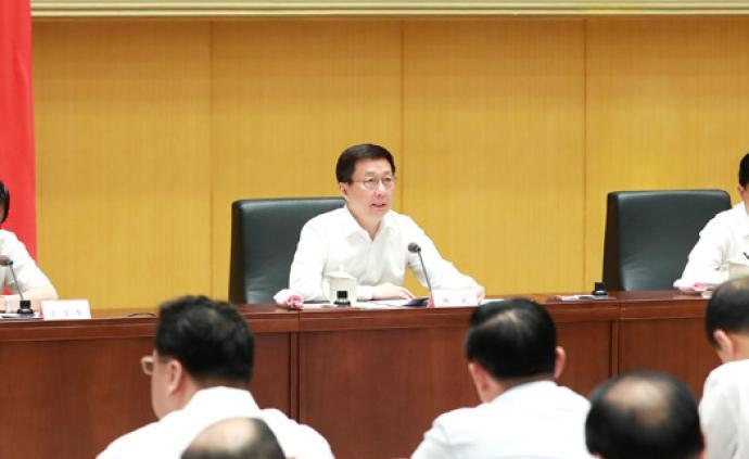 韩正:坚持刀刃向内扭住目标不放,突出重点抓好改革任务落实