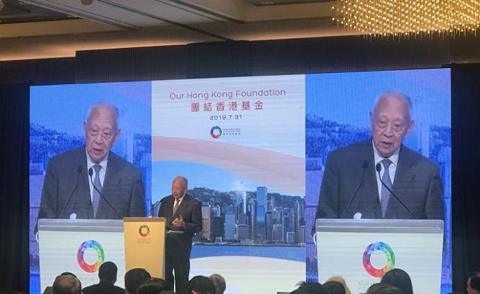 董建華就香港局勢表態:其中必有幕后推手或是外部勢力介入
