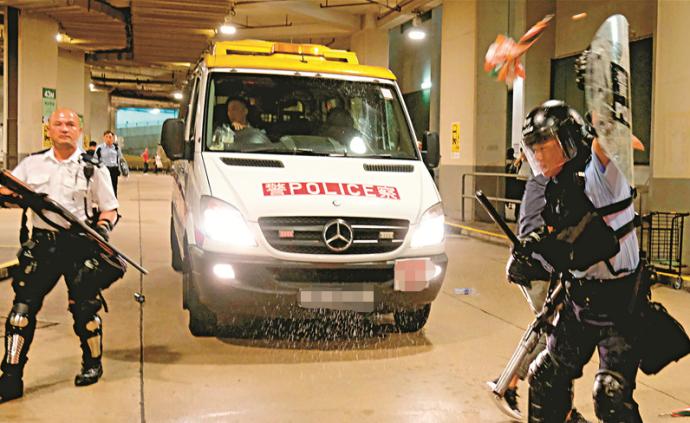 24名香港警員遭襲,警方強烈譴責暴力行為