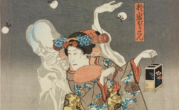 """浮世绘中的""""异世界"""",读葛饰北斋、鸟山石燕笔下的灵与怪"""