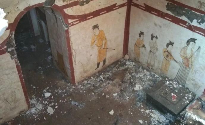 太原发现唐代墓葬,壁画显示墓主身份不寻常