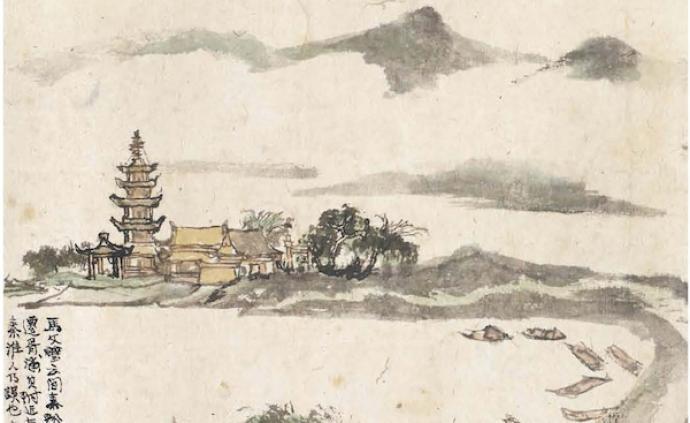 程十发四册册页出版,看他笔下的家乡松江和宋人诗意