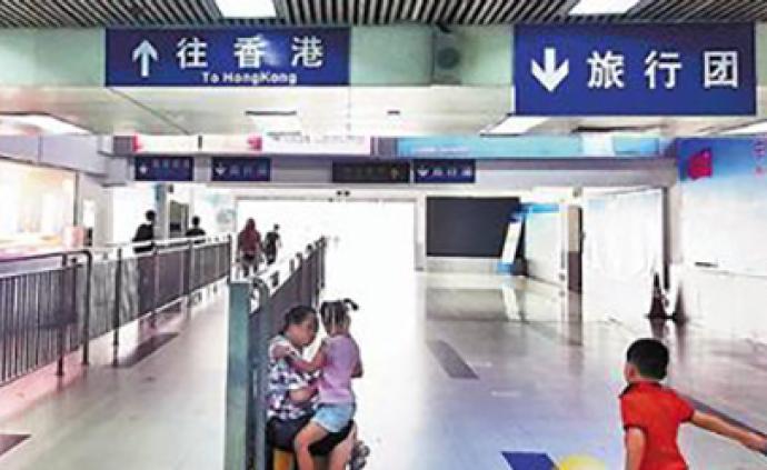 香港暴力事件致内地旅游团暴跌,口岸几分钟难见一客人