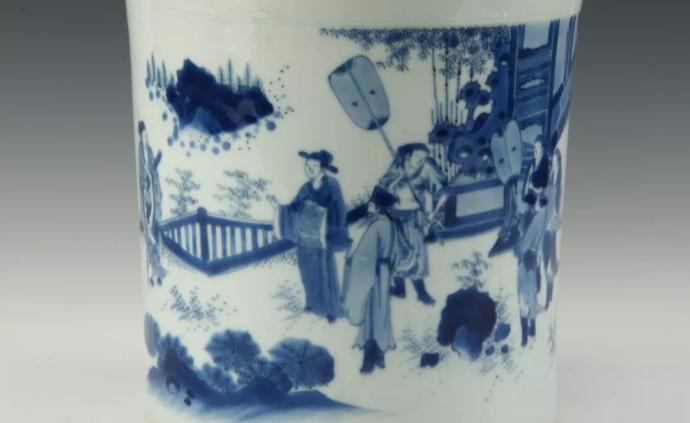 """明清青花瓷里的众生相 ,温州博物馆展""""白地青衣"""""""