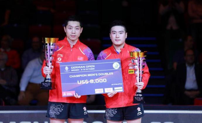 乒乓球德國公開賽:中國隊收獲兩金,韓國組合女雙奪冠