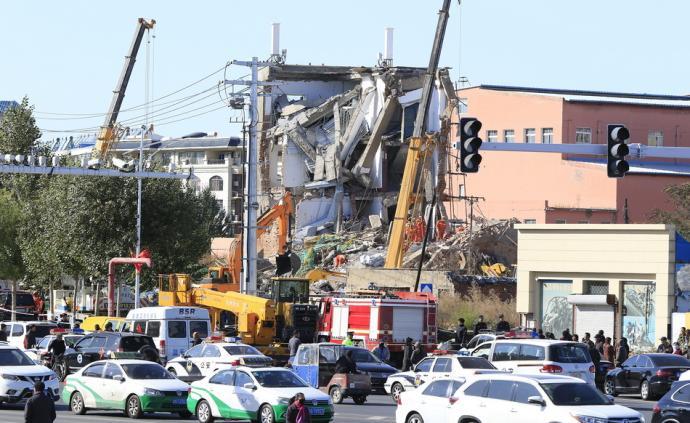 吉林白城農商行辦公樓坍塌事故搜救結束:事故致5人死4人傷
