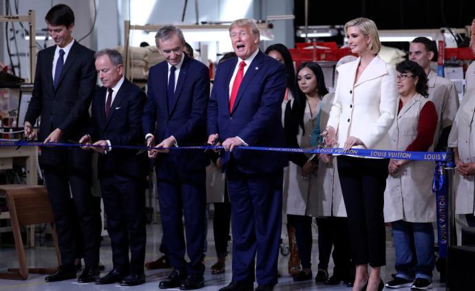 """特朗普為LV在美工廠剪彩:""""法國是美國最老的盟友"""""""