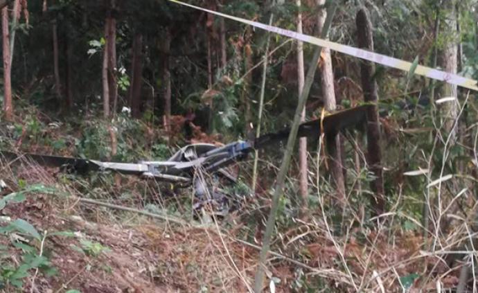浙江金华婺城区一直升机坠落,2名飞行员不幸身亡