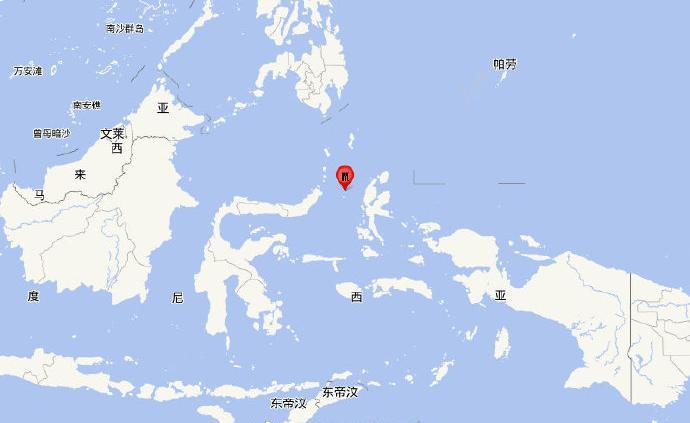 印尼马鲁古海北部发生7.2级地震,震源深度50千米