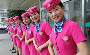 """多地医院推""""空姐式""""服务,护士穿空姐服参加航空公司培训"""