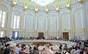 习近平上合组织杜尚别峰会上倡议商签反极端主义公约
