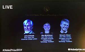 解密大脑如何定位,挪威夫妇英国学者分享诺贝尔奖