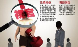 广东反腐新规:裸官不得任领导职务,新提拔干部公开财产