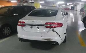 上海女司机错把油门当刹车,连撞保时捷、宝马等多辆豪车
