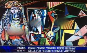 毕加索阿尔及尔女人被P掉了乳房!默多克在美国的尺度好小啊