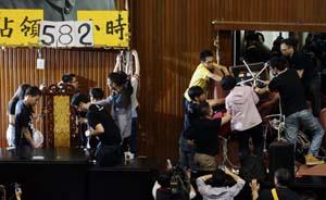 """学生撤出""""立法院""""反服贸运动退场"""