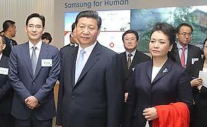 """三星、LG争相用""""中国梦""""吸引习近平关注"""