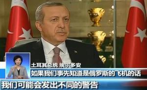 土耳其警告俄空袭是玩火,总统想和普京面对面解决问题