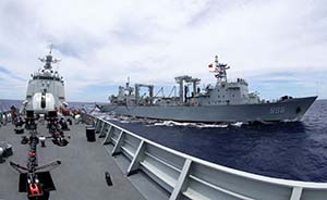 环太军演20艘军舰主炮射击,中国海军首试经纬度点射击