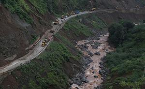 """寨子社:隔绝的""""堰塞湖村"""",余震后记者和村民被困"""