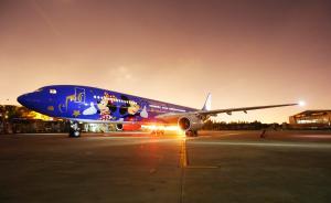 首架迪士尼主题彩绘客机亮相,近期将投入京沪等航线