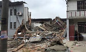 上海青浦一农宅今晨发生房屋坍塌,疑似液化气爆燃致1死2伤