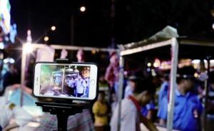 郑州城管首次网络直播执法过程半天点击破万:商贩称不好意思