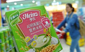 """上海市场紧急排查亨氏""""铅超标""""米粉,暂未发现问题批次"""