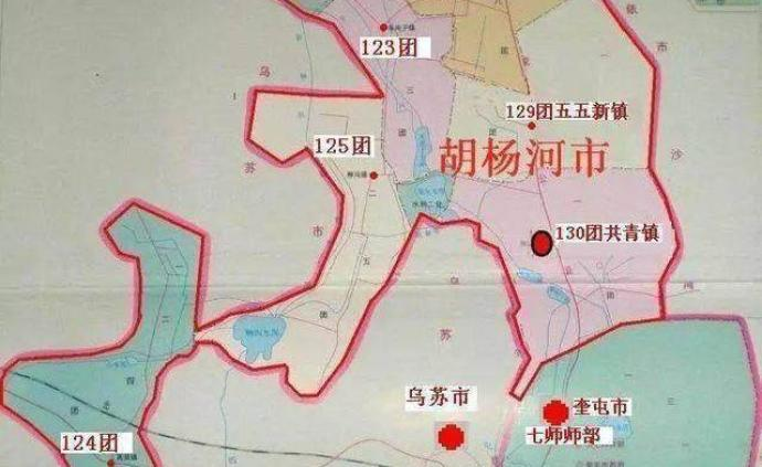 國務院批準設立縣級胡楊河市,政府駐新疆兵團第七師130團