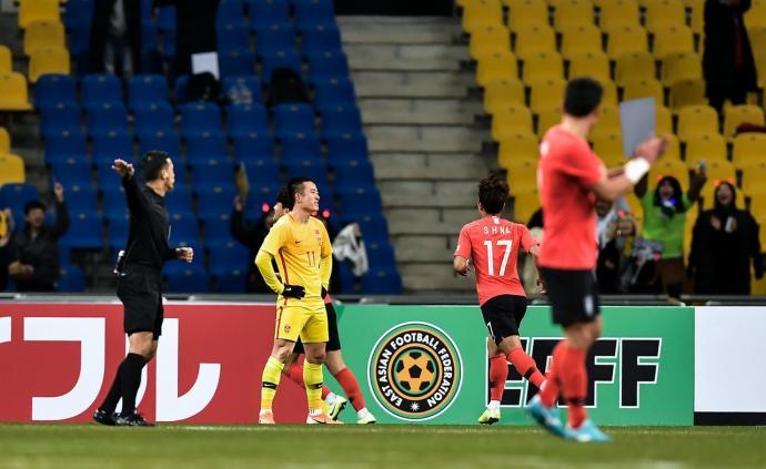 全場被壓制!國足0比1不敵韓國,東亞杯迎來兩連敗