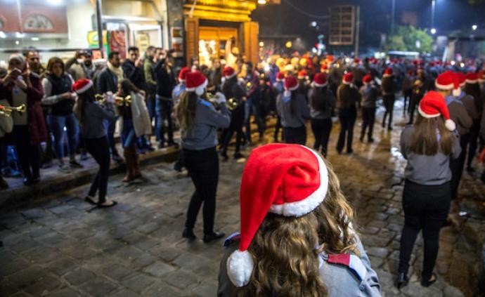 來之不易的和平:敘利亞首都大馬士革的圣誕狂歡