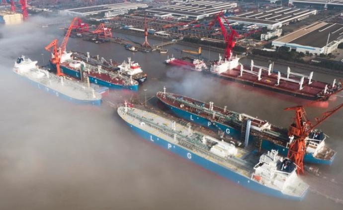 江南造船4艘超大型液化石油氣船同時命名,將交付新加坡船東