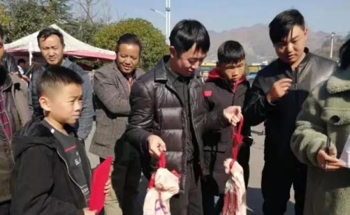 貴州一學校發豬肉獎勵學生,網友:真正的靠實力吃肉
