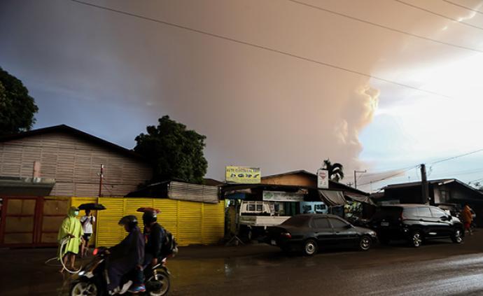 菲律賓旅游勝地火山噴發,駐菲使館提醒旅菲中國公民安全事項