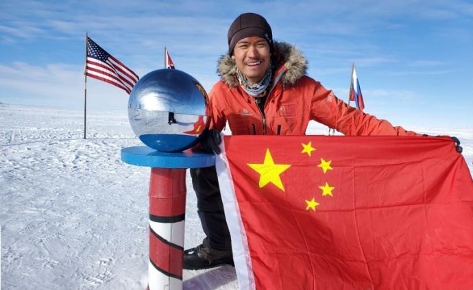 一對滑雪板、一架雪橇,中國小伙58天獨步南極1400公里