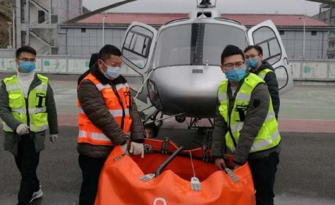 贵州应急管理部门出动直升机,对疫情隔离点实施空中消杀作业