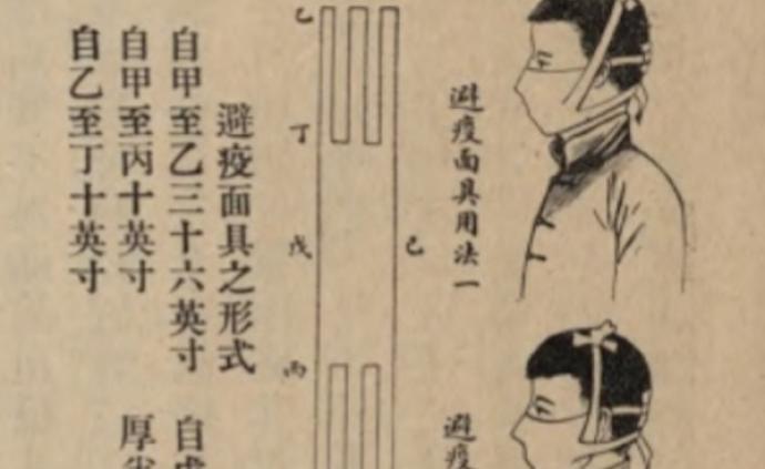 """""""防疫面具"""":百年前的中國肺疫防御神器"""