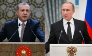 外媒:土耳其总统就去年击落俄战机一事向普京写信致歉