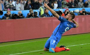 吉鲁两球助法国5比2大胜冰岛晋级四强,半决赛迎来德法大战